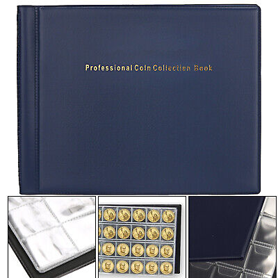 240 Collection Storage Penny Pockets Money Album Book Collecting Coin Holder UK