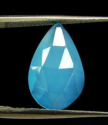 2.55 Ct Natural Blue Chalcedony Loose Faceted Gemstone Beautiful Stone - 10810