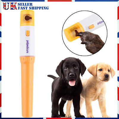 Electric For Dog Cat Nail File Grooming Grinder Safe Trimmer Clipper Pet Claw UK