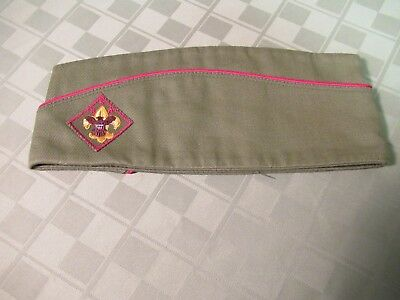 Boy Scout Garrison Hat Scouts Size Med 6 3/4  6 7/8 Excellent Cond Free USA Ship