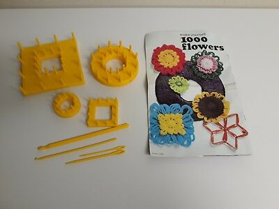 Mon Tricot Special enjoy making 1000 flowers with FLOWER LOOMS craft booklet +