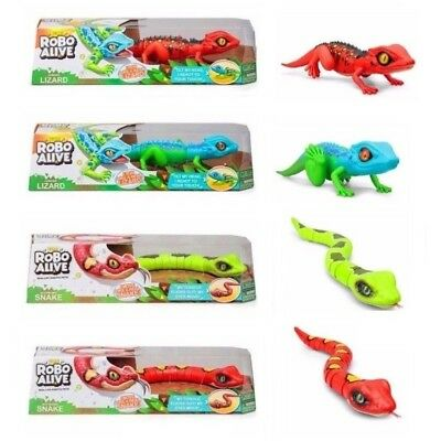 ZURU Robo Alive Lurking Lizard Slithering Snake Moving Creature Toy Gadget NEW