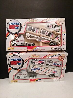 2 PEPSI Super Transport Die Cast Metal Special Edition Trucks/cars 1996 NIB