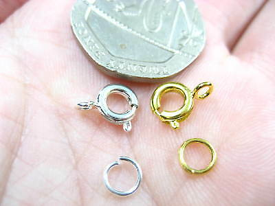 1000pcs necklace Bracelet round clasps Fastener Hooks gold silver jump rings
