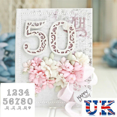 Lace Numbers Metal Cutting Dies Stencil Scrapbooking Embossing Card DIY Craft
