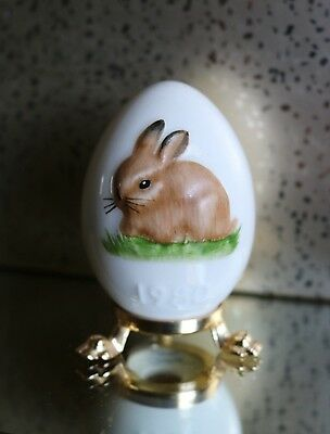 GOEBEL 1980 3rd Edition Annual Bunny Rabbit Easter Egg West Germany Stamped