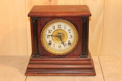 Antique Ingraham 8 Day Gonging Mantle Clock *Early 1900's*