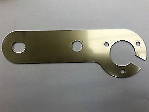Stainless Steel Single Mounting Plate for 7 pin 13 pin Towing Sockets & Fixings