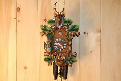 Multi Colored Black Forest 8 Day Cuckoo Clock ~ 1960's ~