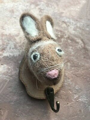 Felt Rabbit Wall Coat Hook Hare Kids Bedroom Woodland Door Hanger