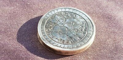 Absolutely Exquisite late Post Medieval ladies Silver face cream lid. PRD. L20e