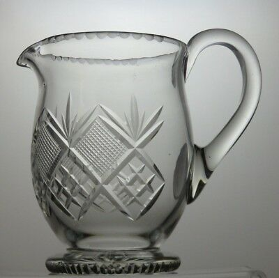 "Lead Crystal Cut Glass Water Jug - 6 1/2"" Tall"