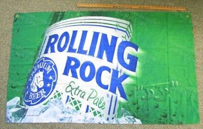 Latrobe Brewing Co Rolling Rock 33 Bottle Large Cloth Banner Flag NEW