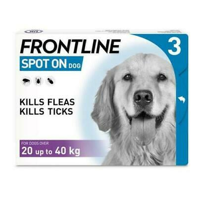 Frontline Spot On for Large Dogs | Flea & Tick Treatment | 3 Pipettes AVM-GSL