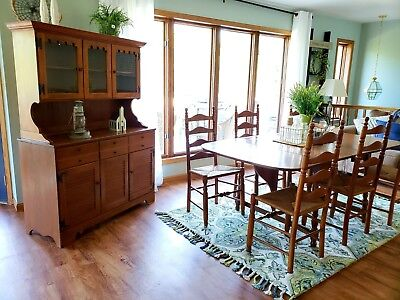 Magnificent Vintage 1959 Ethan Allen Dining Set Maple Table Chairs And Unemploymentrelief Wooden Chair Designs For Living Room Unemploymentrelieforg