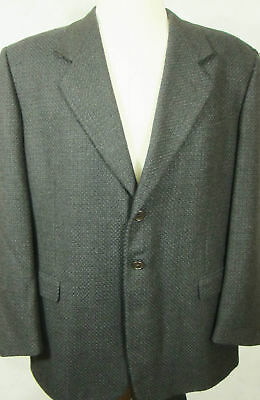 GORGEOUS Pal Zileri Dark Gray With Blue Brown Heavy Wool Sport Coat 46R Italy