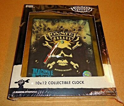 MONSTER GARAGE COLLECTABLE CLOCK  SEALED - Ships Quick!!