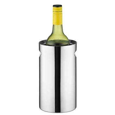 Avanti Twin Stainless Steel Wine Champagne Bottle Cooler Chiller Indent Handles