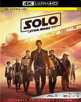Solo: A Star Wars Story (4K UHD Bluray) No Reg Blurays No Dig