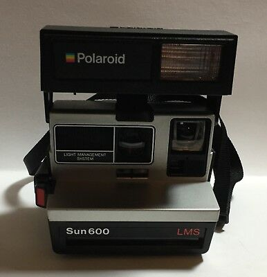 Vintage POLAROID Sun 600 LMS Instant Camera - UNTESTED - Clean