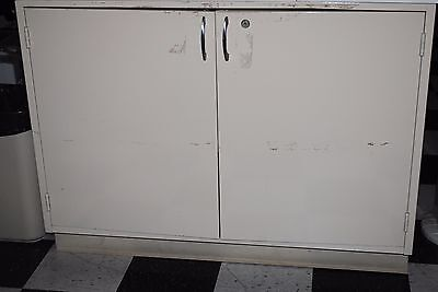 4' laboratory metal cabinet / bench