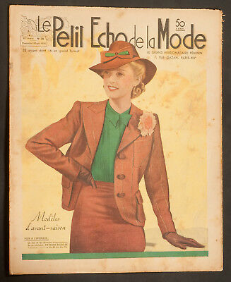 'echo De La Mode' French Vintage Newspaper 18 September 1938