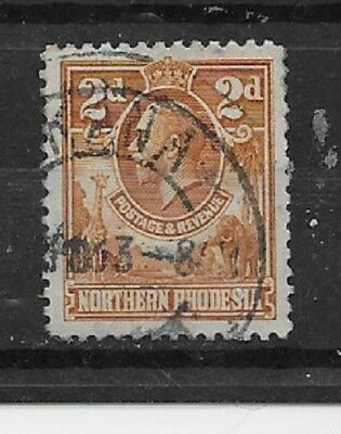 NORTHERN RHODESIA Stamps-Scott # 4 /A1-2p-Canc/LH-1925-29-OG