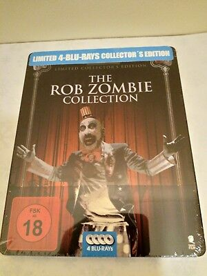 The Rob Zombie Collection GERMAN EDITION/English Audio 4 Blu-ray discs Steelbook