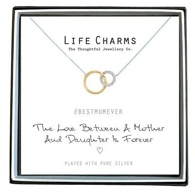Life Charms The Love Between A Mother Daughter Is Forever Necklace