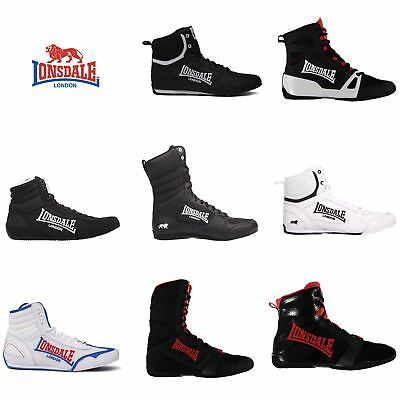 Lonsdale Boxing Shoes Mens Barnburner Cruiser Ghostspeed Contender Boxing Boots