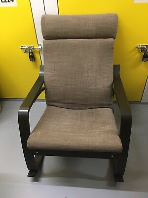 IKEA Poang Rocking Chair black-brown good condition & IKEA POANG ROCKING Chair black-brown good condition - £40.00 ...