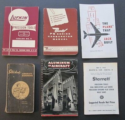 Collection of Eleven (11) VINTAGE AVIATION PAMPHLETS ~ 1941 through 1964