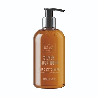 Scottish Fine Soaps Men's Grooming Silver Buckthorn Hair&Body Shampoo 300ml