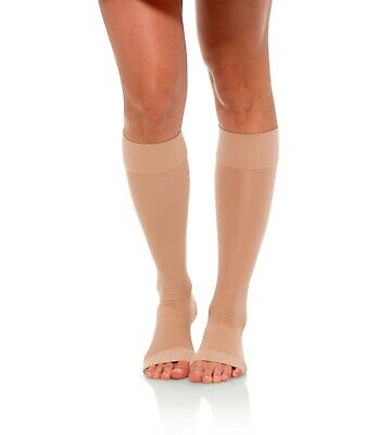 Jomi Compression Knee High Stockings Collection, 20-30mmHg Sheer Open Toe 233
