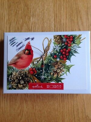 Vtg Marjolein Bastin Hallmark Nature's Sketchbook Christmas Cardinal Boxed  9 Ct