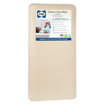 Sealy Cotton Cozy Rest Waterproof 2-Stage Crib Mattress - Free Shipping!