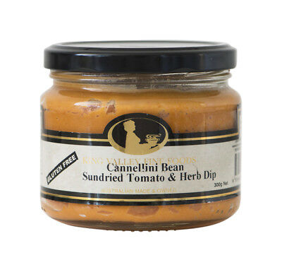 King Valley Fine Foods Cannellini Bean Sundried Tomato & Herb Dip 300g