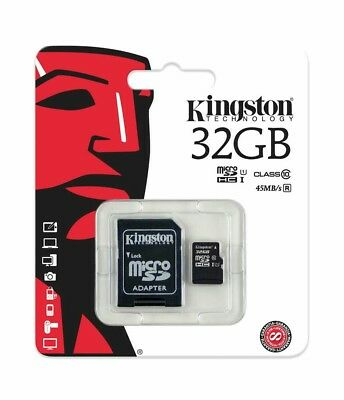 32GB Kingston Micro SD 32GB SDHC memory Card Class-10 with SD card Adapter FAST!