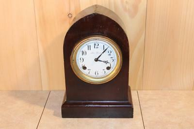 Antique New Haven 8 Day Chiming Beehive Style Mantle Clock *RUNS*