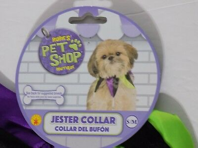 Rubie's Pet Shop Boutique Dog Jester Collar with Bells Halloween Costume Small