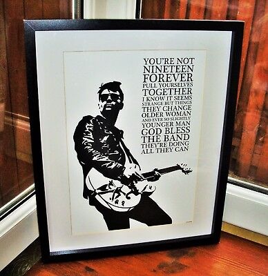 Courteeners/Liam Fray/Not Nineteen Forever A3 size art print/poster