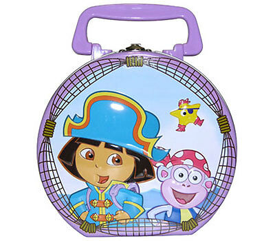 Dora The Explorer The Pirate Girls Tin Purse Lunch Box Carry All Tote Case NEW