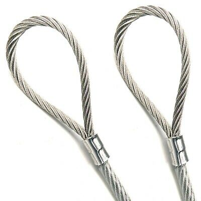 "Stainless Steel Braided Cable 1/8"" Coated to 3/16"" 7x19 Strand Core, Grade 304"