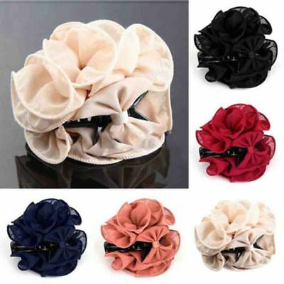 Large Rose Flower Hair Clip Hair Claw Clamp Bow Jaw Clip Barrette Bridal Decor