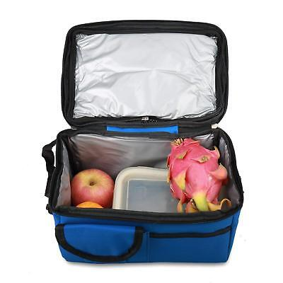 Insulated Thermal Lunch Box Cooler Bento Tote Bag Picnic Storage Pouch Blue