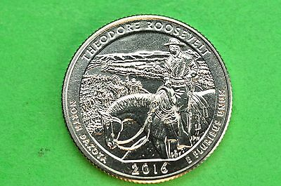 2016-D   BU  Mint State ( Theodore Roosevelt )  US National Park Quarter
