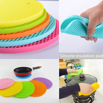 High Resistant Heat Non-slip Silicone Mat Home Table Insulation Coaster Placemat