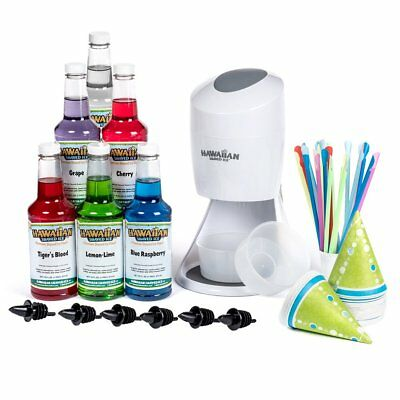 Hawaiian Shaved Ice Machine and Syrup 6 Flavor Party Package | Includes S900A