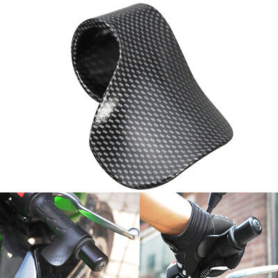 1PC Black Motorcycle Throttle Assist Clamp Aid Cruise Control Handlebar Grip AU