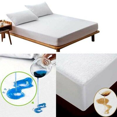 Mattress Protector Waterproof Sheet Bug Bed Cover Cotton Pad King Queen Twin